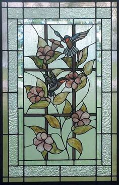 Stained glass hummingbirds by Dittekarina