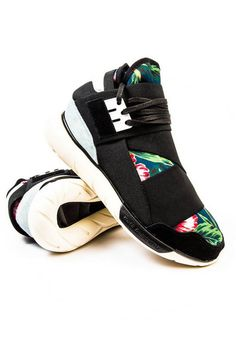6f465cdcf Where To Buy adidas Y-3 Qasa High Floral Black Noir Flower Tech White blanc