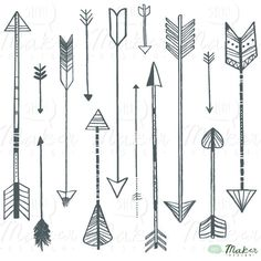 Arrow Clip Art Digital Graphic Set Photo par ShhMakerDesign