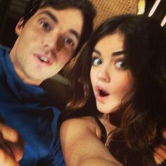 Lucy Hale and Ian Harding (Lucian), PLL Ezria