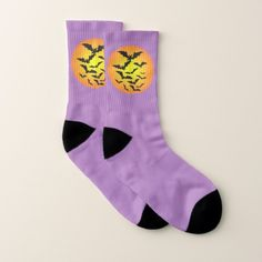 Flowers and Grass Socks Unisex Custom Print Your Picture Photo Socks Silhouettes Of Butterflies