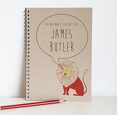 Personalised Children's Eco Notebook #Backtoschool