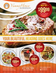 Restaurant Flyer  Google Search  Photoshop Ideas