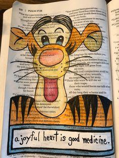 A Joyful Heart Is Good Medicine Biblejournaling