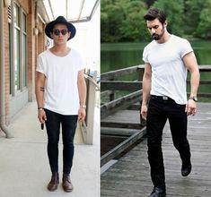 """""""6 formas diferentes de usar camiseta branca """""""