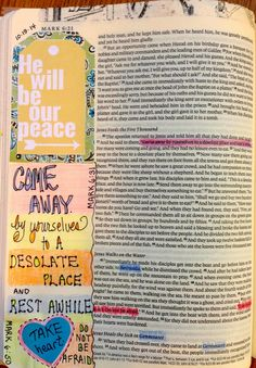 Vintage Grace: Bible Marginalia- Come Away- Rest Awhile