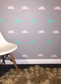 Clouds Removable vinyl wall decals. Interior design • kids rooms • nursery • girls rooms • boys rooms Removable Vinyl Wall Decals, Girl Nursery, Kids Rooms, Girl Room, Boys, Girls, Clouds, Interior Design, Home Decor