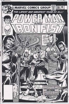 """marvel1980s: """" perletwo: """" marvel1980s: """" 1979 - Anatomy of a Cover - Power Man and Iron Fist #56 by Bob Layton """" @marvel1980s did Layton ink that himself, d'you know? Coz that is some Terry..."""