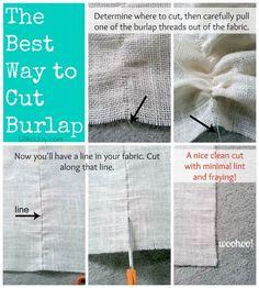 10 Great Decorating Ideas Using Burlap + Best Tip for Cutting Burlap