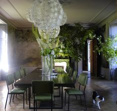 artists homes series – the home, studio and art of French large scale flower artist Claire Basler