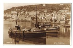 MOUSEHOLE HARBOUR FISHERMEN FISHING FISH BOATS CORNISH OLD RP PHOTO POSTCARD | eBay