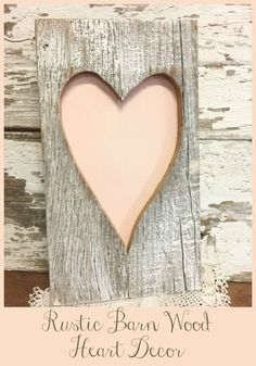This rustic barn wood heart will be a great decor for homes or offices. I think it'll be super cute, especially for Valentine's day. #affiliate #homedecor #barnwood #woodcraftsforkids