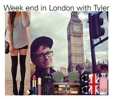 Week end in London with Tyler by nour-alhouda on Polyvore featuring polyvore fashion style Erstwilder Ray-Ban Too Faced Cosmetics Estée Lauder Guerlain Lord & Berry Oakley clothing