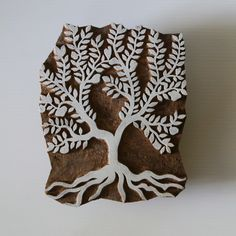 Hand Carved Apple Tree Stamp