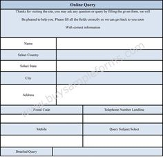 Access Query Form  Form Design