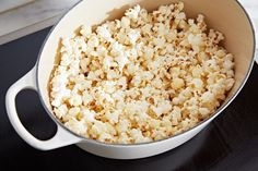 How to Make Popcorn in the dutch oven