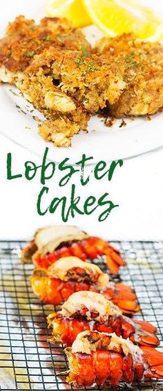 These lobster cakes are a crispy new way to serve up some tasty lobster. Make them for an appetizer for a party or just a main for your next dinner. Seafood Soup Recipes, Halibut Recipes, Seafood Appetizers, Lobster Recipes, Easy Appetizer Recipes, Appetizers For Party, Fish Recipes, Appetizer Ideas, Healthy Appetizers