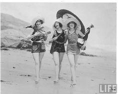 Flappers on a beach!