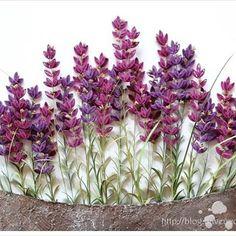 quilling - lavender #quilling#paperquilling #quillingflowers…