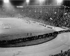 View from the stands of War Memorial Stadium in Buffalo as the Bills come from behind to beat the New York Jets 34-24 in October, 1964. Go Bills!