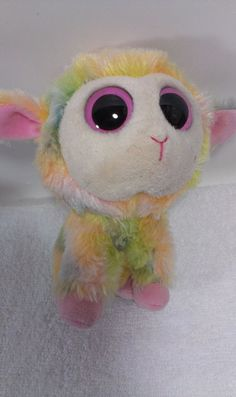 Ty Lamb BLOSSOM Easter Beanie Boo Boos Plush Collectible 6