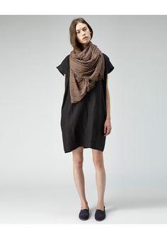 faliero sarti | kitty scarf (w/ linen shift dress by organic by john patrick)