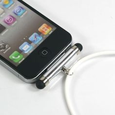 APPLE  :: White Silicon Neck Strap Band Landyard with Touch Pen for Apple iPhone 3G 3GS 4G 4S iPod Touch (7251-1) :: by ZuGadgets