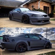 #Mustang #Cobra #Slammed #Stance #Modified 2001 Mustang Cobra, 2000 Ford Mustang Gt, Ford Mustang V8, Ford Svt, Mustang Cars, Ford Bronco, New Edge Mustang, Custom Muscle Cars, Mustang Convertible
