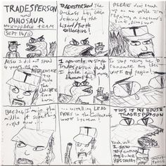 Tradesperson and Dinosaur -- Unstoppable Team.  Which isn't about Mario or Nintendo as you can clearly see
