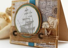Inspired by Stamping Summer Postcards Add On - Masculine Card