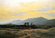 Klosterruine Eldena und Riesengebirge