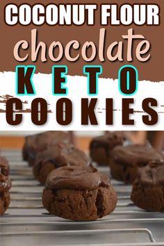 Cheese Cookies Recipe, Cream Cheese Sugar Cookies, Coconut Flour Cookies, Keto Cookies, Candida Recipes, Keto Recipes, Keto Foods, Skinny Recipes, Healthy Recipes