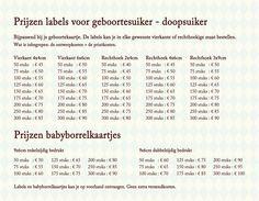 De prijzen van de labels en de babyborrel uitnodigingen of kraamvisite uitnodigingen - Pimpelpluis - https://www.facebook.com/pages/Pimpelpluis/188675421305550?ref=hl