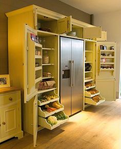 Grand Larder Unit with Built in Racks and Storage