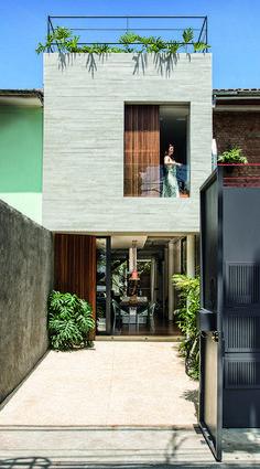 Super Home Minimalist Exterior Architecture 15 Ideas Narrow House Designs, Small House Design, Modern House Design, Minimalist House Design, Minimalist Home, Townhouse Designs, Compact House, Facade House, House Facades