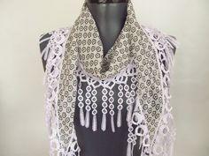 scarf  chiffon scarf  white scarf  scarf shop  woman by ScarfsSale, $15.00