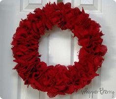 Burlap Valentine's Day wreath