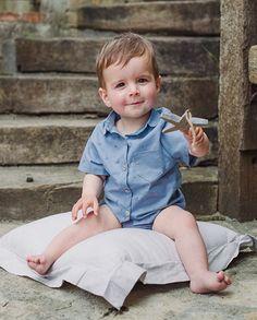 Camisa aviones con bolsillo bebé niño | Corazón de león KIDS moda infanti