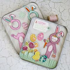 Easter Bunny Doll Set by Melissa Phillips for Papertrey Ink (February 2016)