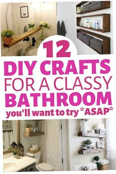Small bathroom decor ideas that you can diy on a really small budget. Including functional small bathroom organization & storage solutions that look great! Check out these amazing bathrooms now! #diybathroomdecor#bathroomdecorating#diybathroom#bathroomcrafts#homedecorideas