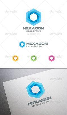 Hexagon Infinite Looped Logo