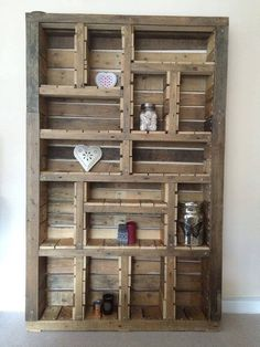Hand made pallet wood storage unit @ Etsy #upcycle #wood #rustic #shabbychic
