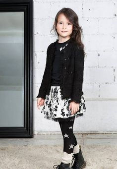 aw14: From Eliane et Lena. www.elianeetlena-usa.com, www.elianeetlena.fr Tween Fashion, Fashion 2017, Little Girl Outfits, Kids Outfits, Dress Skirt, Lace Skirt, 14 Year Old Girl, Dress With Boots, Modest Outfits