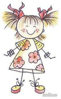 cute little girl Doodle Art, Doodle Drawings, Easy Drawings, Hipster Drawings, Pencil Drawings, Drawing For Kids, Art For Kids, Stick Figure Drawing, Stick Figures