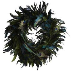 Feather Wreath - Peacock Green