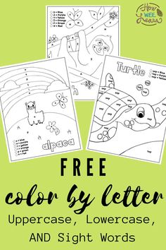 This free color by letter bundle includes everything your preschooler or kindergarten child needs for learning letters, sounds, and beginning to read! Play your way through these Kindergarten worksheets and watch as your child begins to understand how letters fit together to make words - all with simple coloring pages! Letter Worksheets, Free Printable Worksheets, Alphabet Activities, Language Activities, Letter Tracing, Free Printables, Creative Activities For Kids, Kids Learning Activities, Teaching Kids