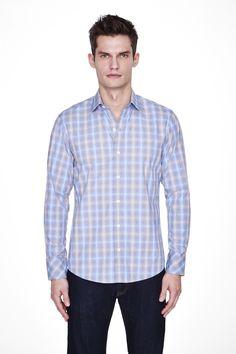 Zachary Prell Stuart Woven Pattern Plaid Shirt