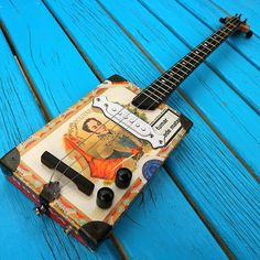 Electric Cigar Box Guitar 3string