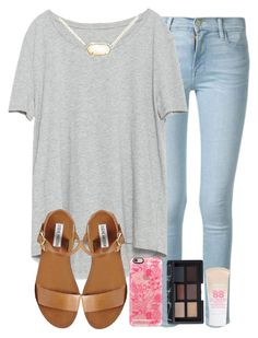 """""""advice in the desc. pt 33333333"""" by madiweeksss ❤ liked on Polyvore featuring Frame Denim, Zara, Steve Madden, Kendra Scott, Casetify, NARS Cosmetics and Maybelline"""