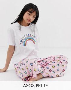 213f23e0729188 ASOS DESIGN Petite – Sweet Dreaming – Pyjama aus T-Shirt und Hose